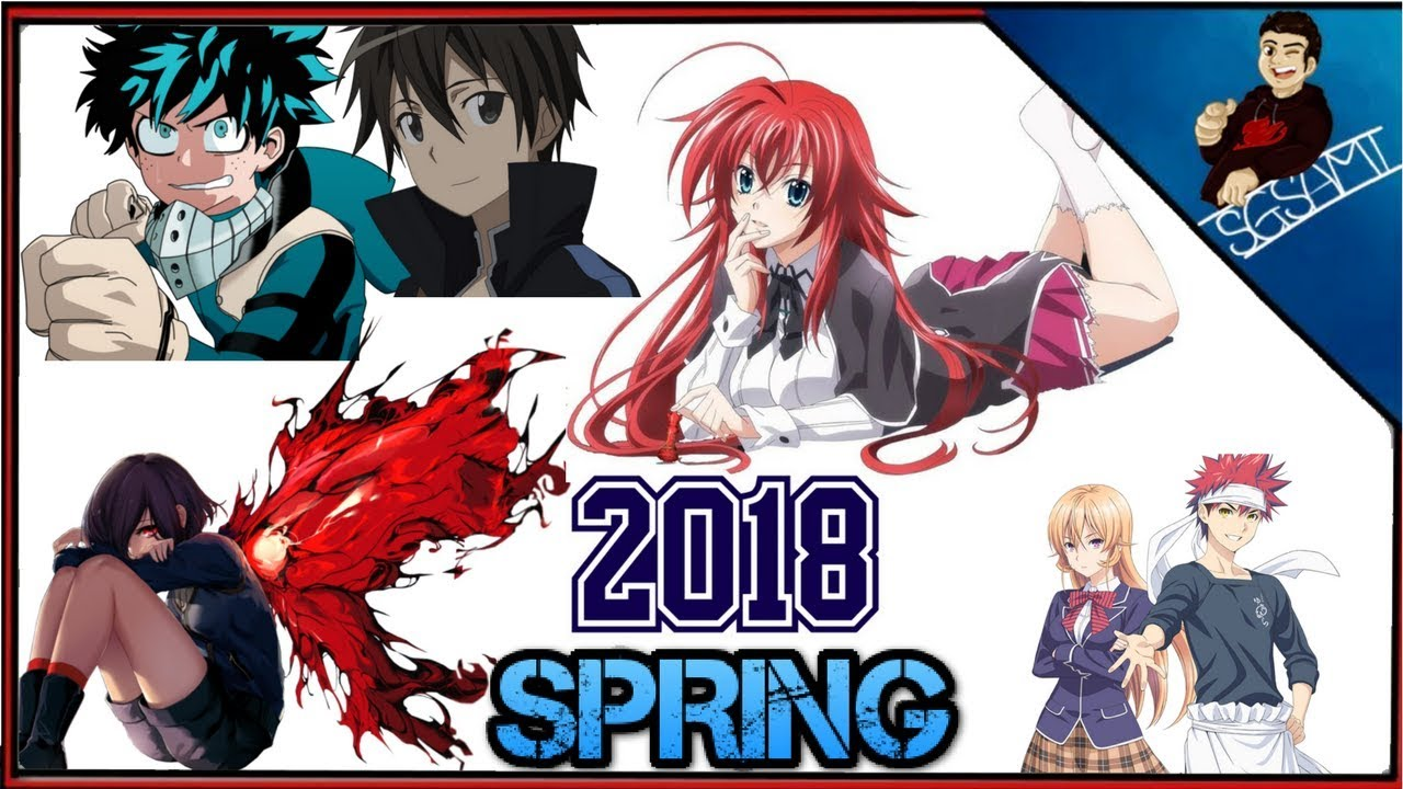Spring 2018 anime schedule announced by crunchyroll