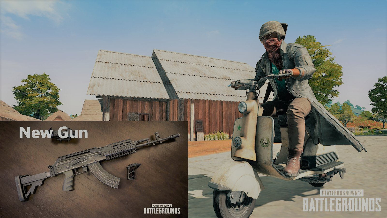Player Unknown's Battlegrounds (PUBG) adds New Gun and Vehicle!