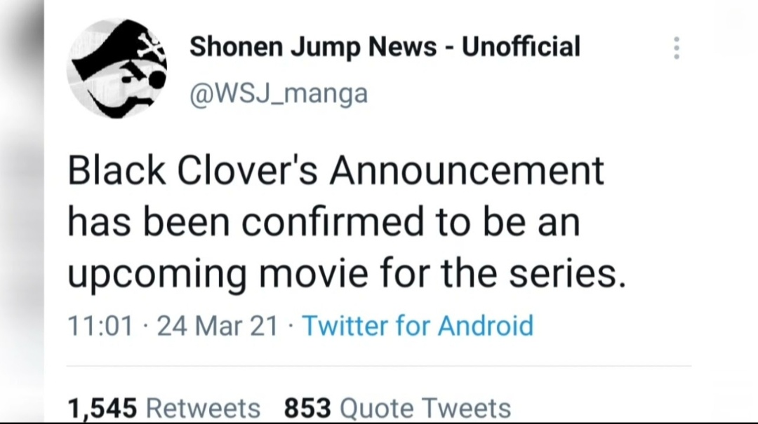 An official announcement on BC movie on Twitter