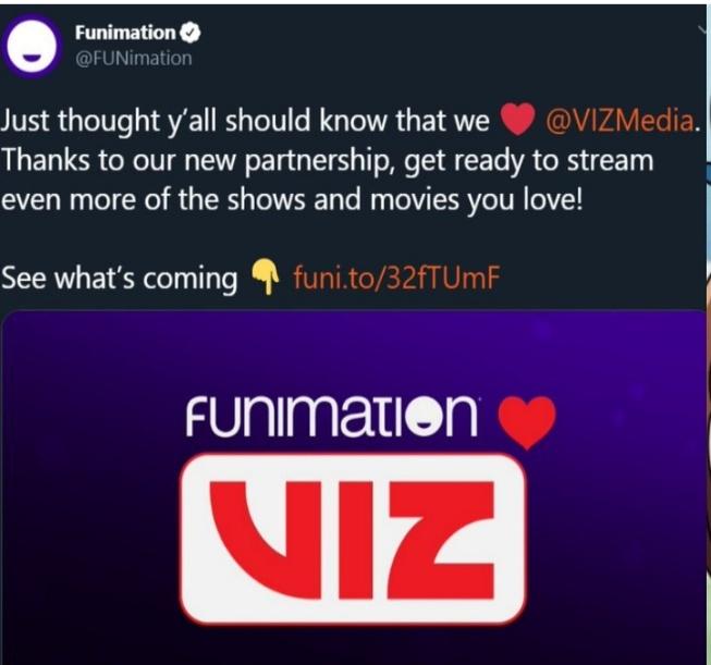 Funimation Partnerships with VIZ Media